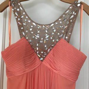 Peach Jewel Formal Dress